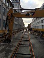 Gleisbau der Stadtbahn